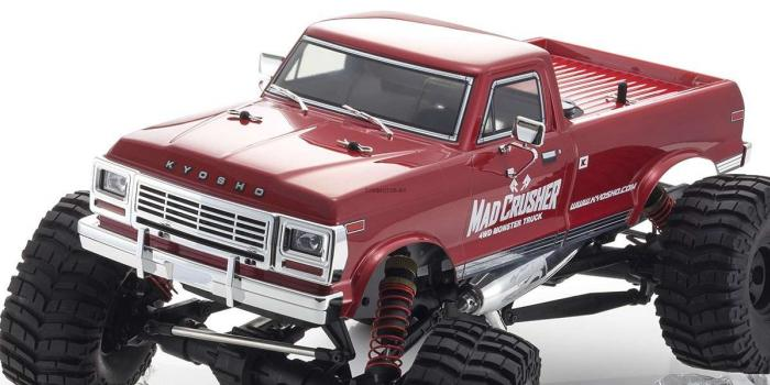 1 MAD CRUSHER 1/8 Scale Radio Control 25 Engine 4WD Monster Truck Readyset